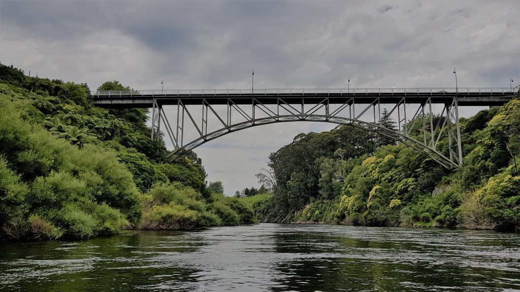 Things to do in Cambridge-Victoria Street bridge Cambridge jet boat New Zealand with Camjet