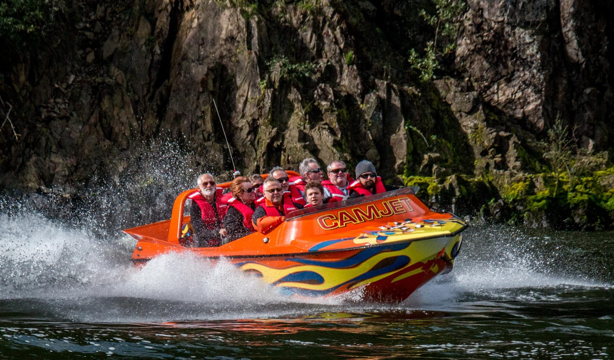 Things to do in Cambridge. Jet boat NZ with Camjet. T2 full boat load.