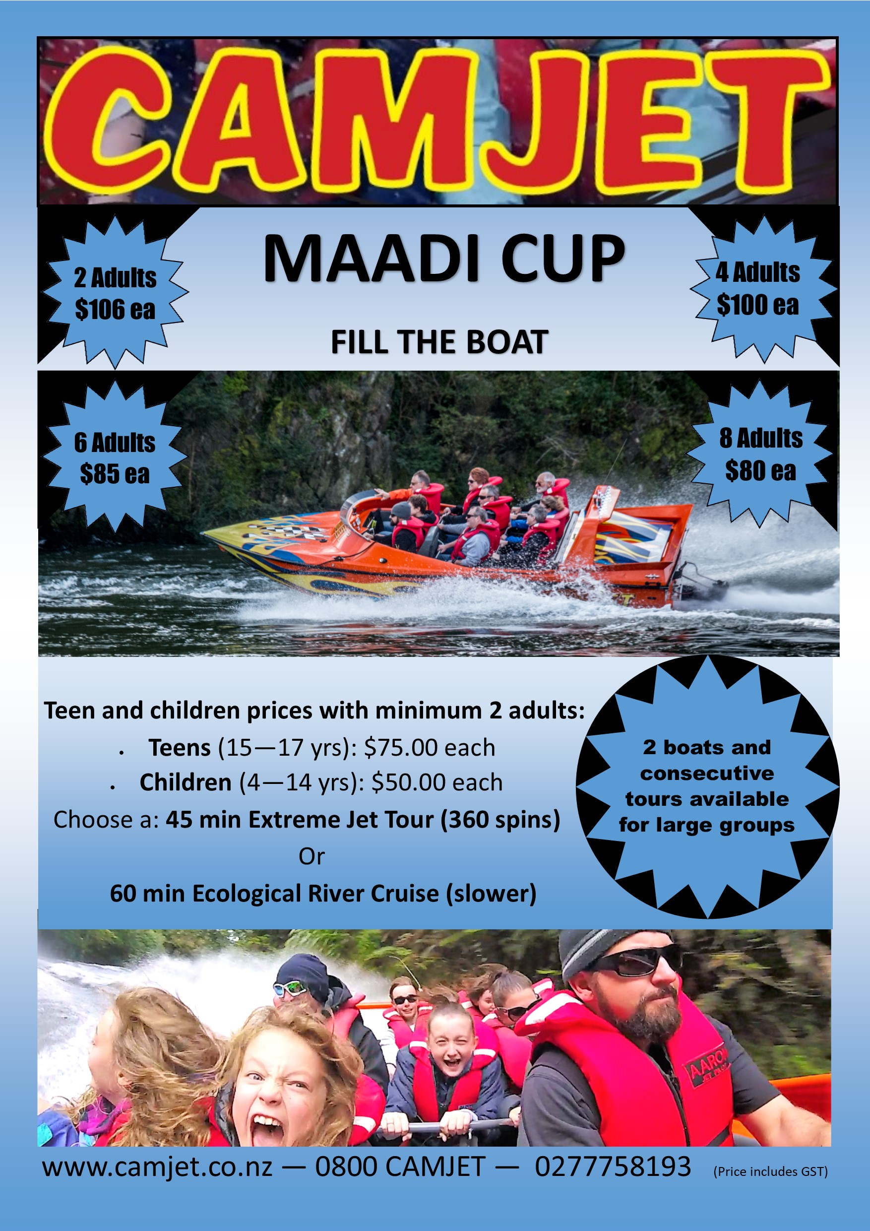 Maddi cup Camjet Fill the boat special