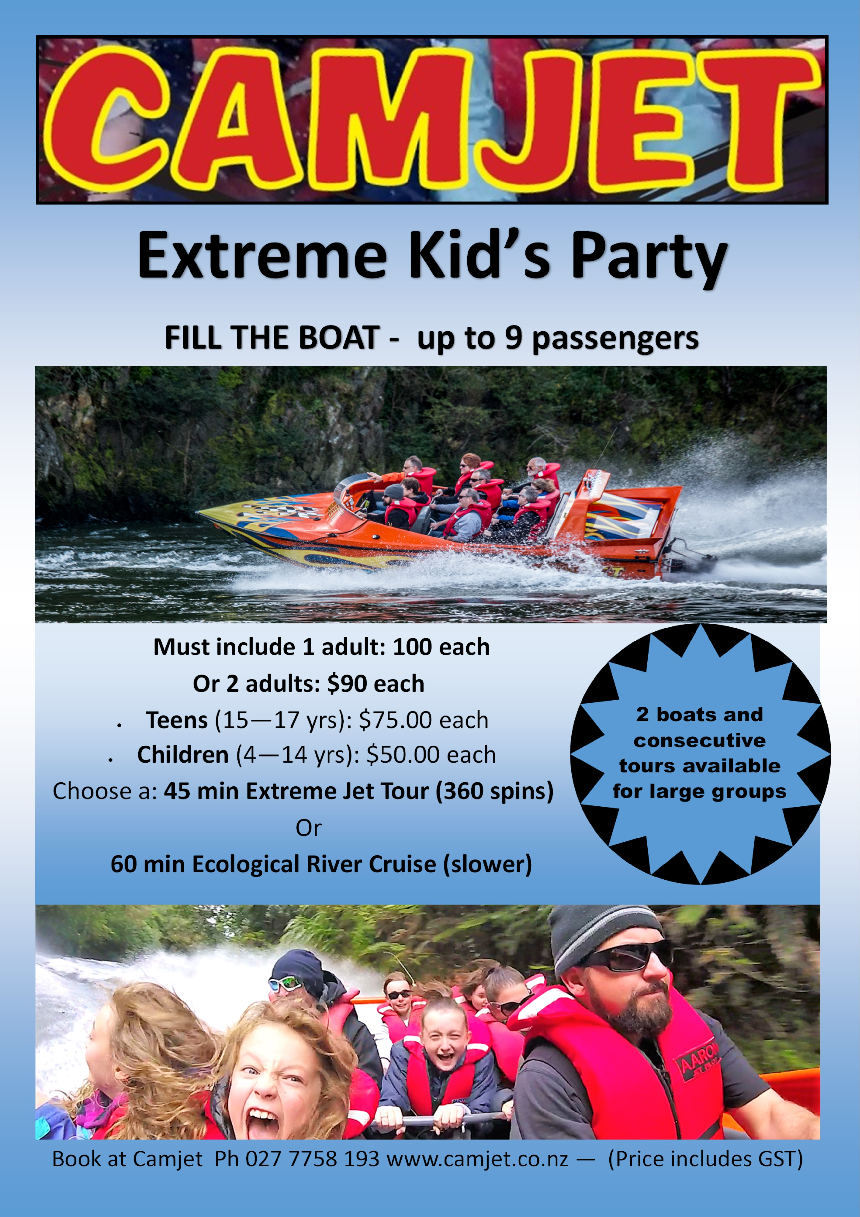 Camjet-Extreme-kids-party-deal